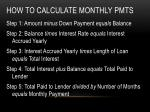 how to calculate monthly pmts