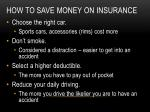 how to save money on insurance1