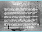 women s roles