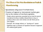 the effects of the price revolution on trade manufacturing