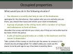 occupied properties