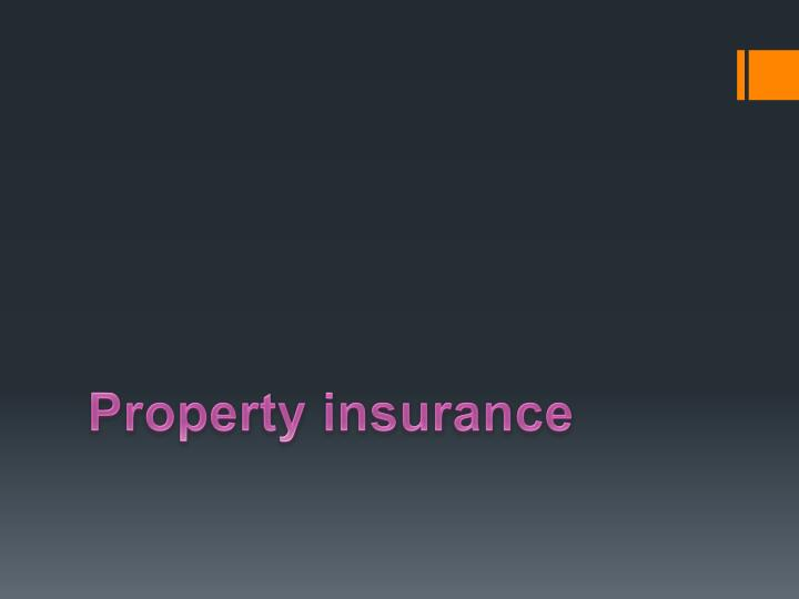 property insurance n.