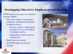 overlapping objectives employment and housing