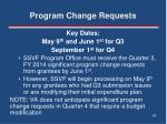 program change requests4