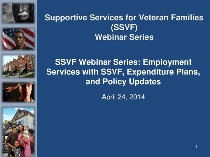 supportive services for veteran families ssvf webinar series n.