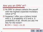 are you an emv er2