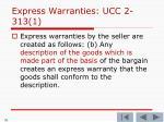express warranties ucc 2 313 11
