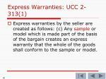 express warranties ucc 2 313 12