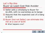 let s flip this buyer as least cost risk avoider