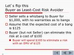 let s flip this buyer as least cost risk avoider1