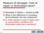 measure of damages cost of repair or diminished value2