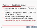 the least cost risk avoider6