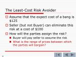 the least cost risk avoider7