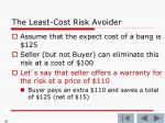the least cost risk avoider9