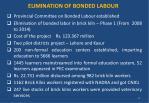 elimination of bonded labour