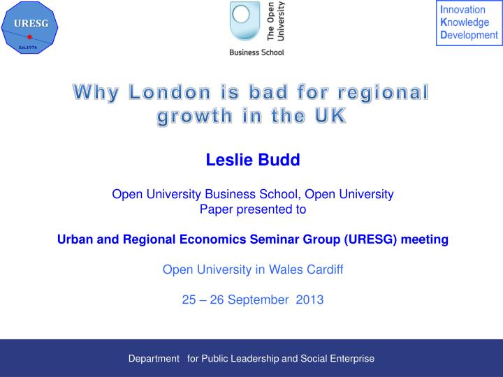 why london is bad for regional growth in the uk n.