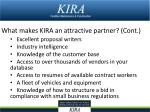 what makes kira an attractive partner cont