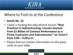 where to find us at the conference