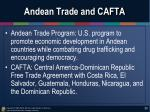 andean trade and cafta