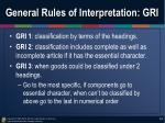 general rules of interpretation gri