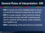 general rules of interpretation gri1
