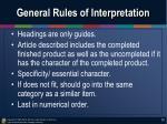 general rules of interpretation