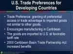 u s trade preferences for developing countries