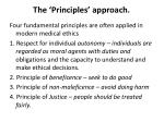 the principles approach