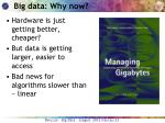 big data why now