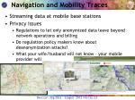 navigation and mobility traces