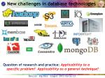 new challenges in database technologies