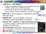 scientific and business relevance