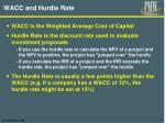 wacc and hurdle rate