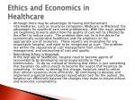 ethics and economics in healthcare1