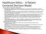 healthcare ethics a patient centered decision model2