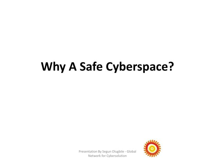 Why A Safe Cyberspace?