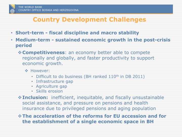 Country Development Challenges