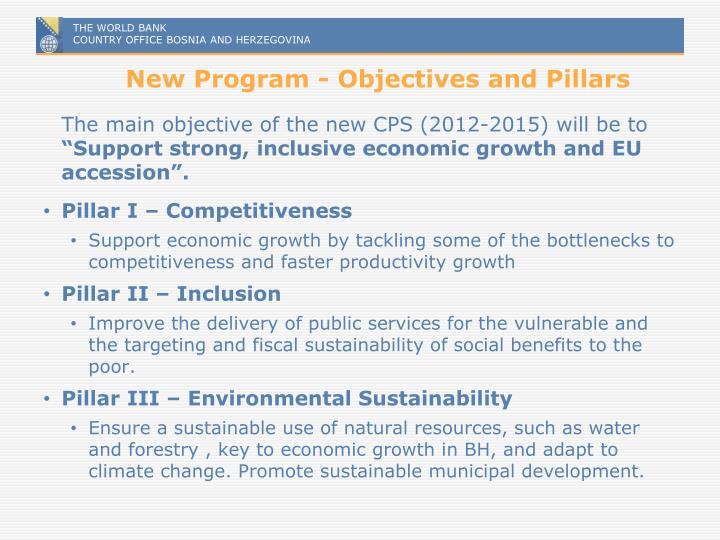 New Program - Objectives and Pillars