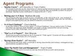 agent programs
