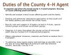 duties of the county 4 h agent