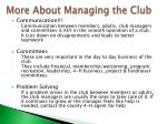 more about managing the club2