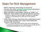 steps for risk management