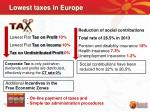 lowest taxes in europe