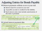 adjusting entries for bonds payable