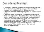 considered married