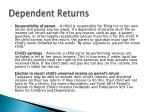 dependent returns1