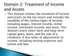 domain 2 treatment of income and assets