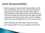 joint responsibility