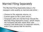 married filing separately