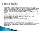 special rules